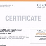 Certificate of OEKO-TEX